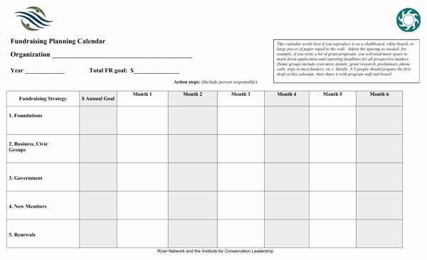 Fundraising Plan Template Excel Fresh Download Fundraising Planning Calendar for Free
