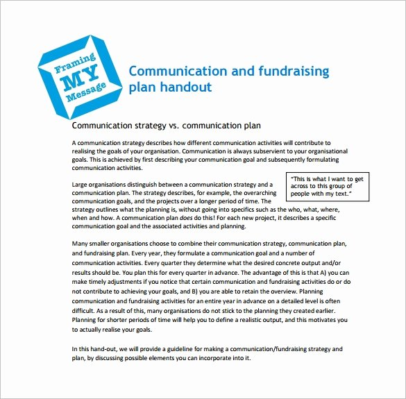 Fundraising Plan Template Excel Luxury 17 Fundraising Plan Templates Free Sample Example