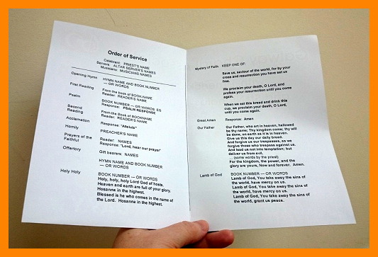 Funeral Mass Program Template Beautiful 5 Funeral Mass Program