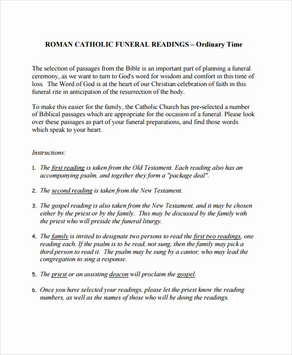 Funeral Mass Program Template Best Of 27 Of Catholic Funeral Mass Program Template