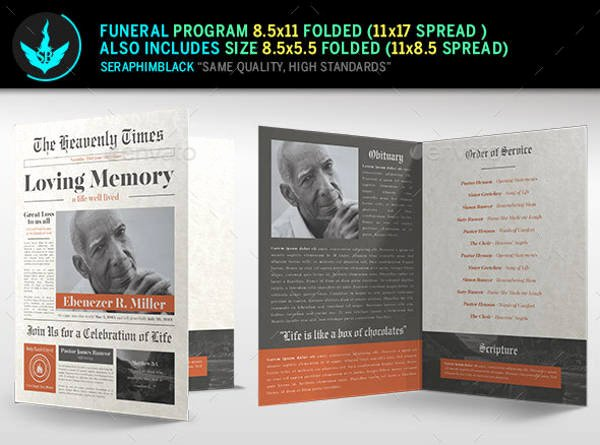 printable funeral program templates