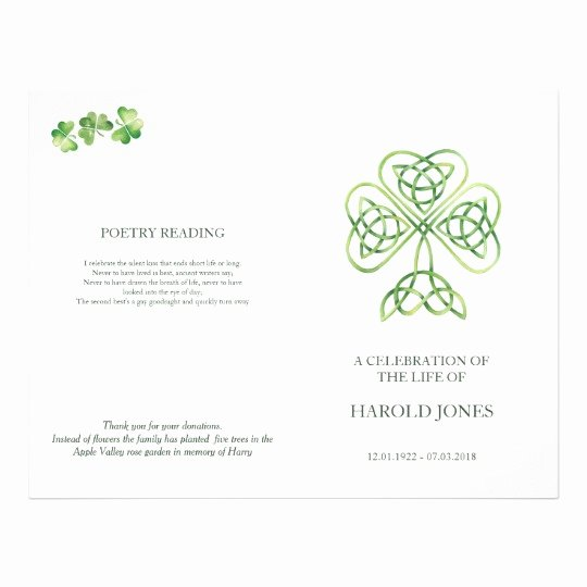 Funeral Mass Program Template Lovely Irish Catholic Memorial Mass Program Funeral Flyer