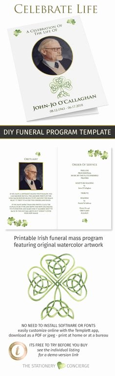 Funeral Mass Program Template Luxury 22 Best Catholic Funeral Images In 2019