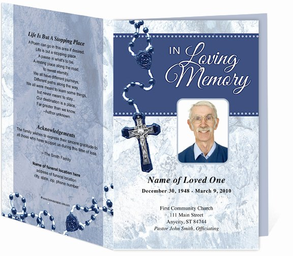 Funeral Mass Program Template Unique Catholic Funeral Program Free Download Aashe