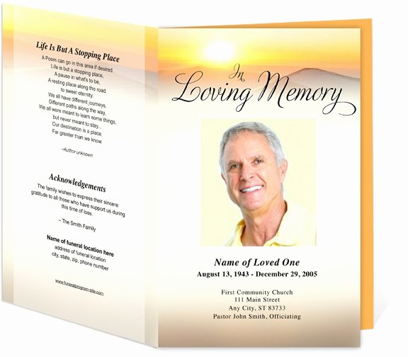 Funeral Mass Program Template Unique Funeral Programs Summit Bifold Funeral Templates for A