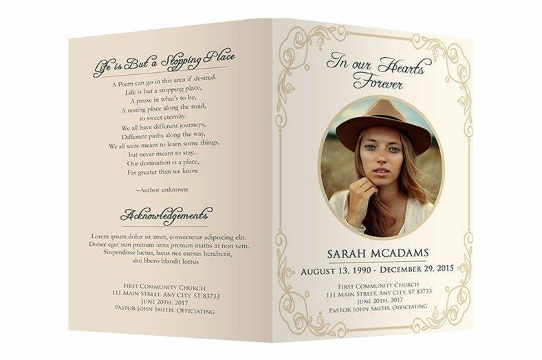 Funeral Memorial Card Template Awesome 12 Personalized Memorial Card Designs and Templates Psd