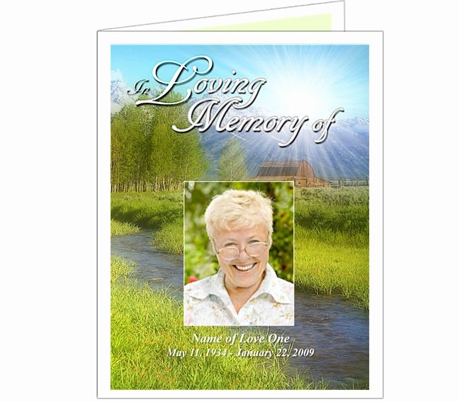Funeral Memorial Card Template Awesome Tranquil Thank You Card Template
