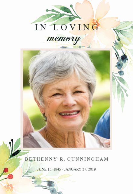 Funeral Memorial Card Template Beautiful Memorial & Funeral Card Templates Free