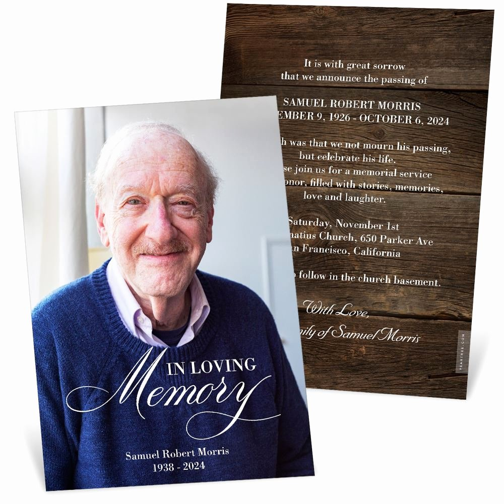 Funeral Memorial Card Template Elegant In Loving Memory Memorial Card