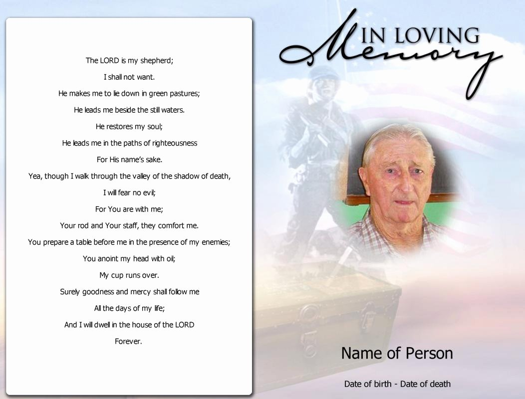 Funeral Memorial Card Template Elegant Obituary Template Father