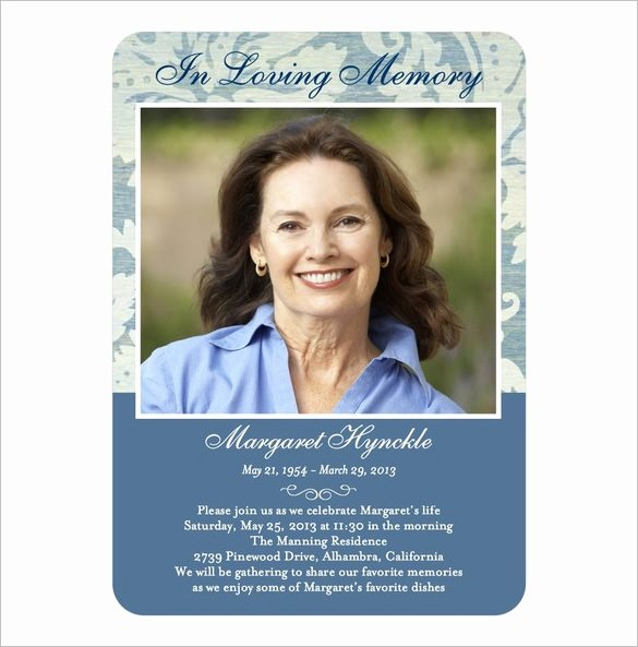 Funeral Memorial Card Template Fresh 16 Obituary Card Templates Free Printable Word Excel