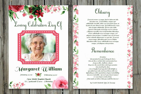 Funeral Memorial Card Template Fresh Funeral Program Template 5x7 Funeral Card Template