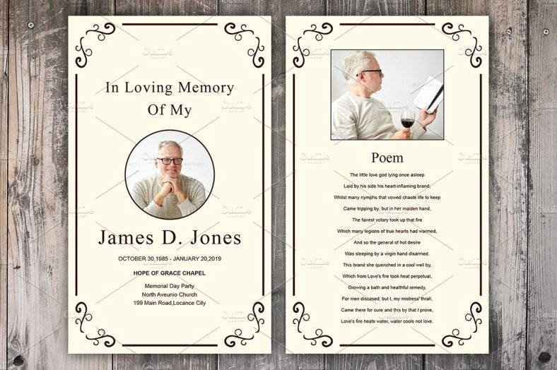 Funeral Memorial Card Template Inspirational 17 Funeral Memorial Card Designs & Templates Psd Ai