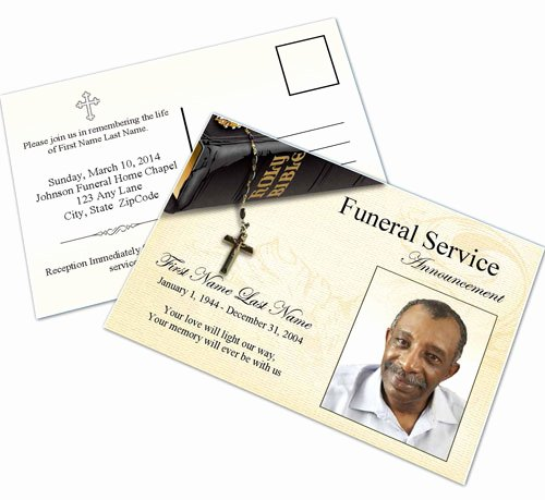 Funeral Memorial Card Template Lovely Bible Memories Funeral Announcement Template Elegant