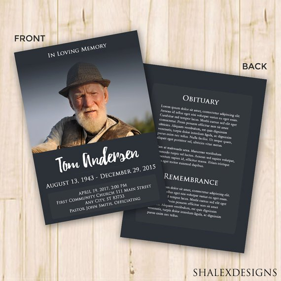 Funeral Memorial Card Template Lovely Our Favorite Actually Free Funeral Program Templates