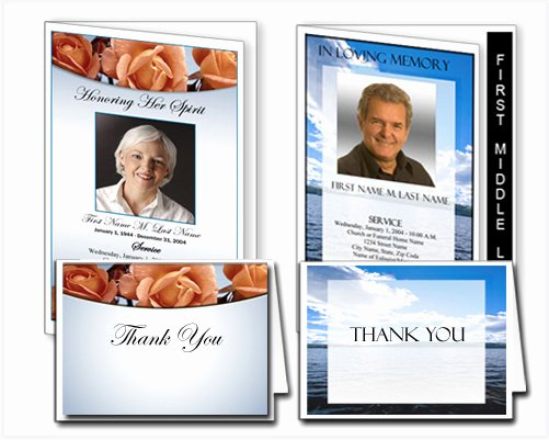 Funeral Memorial Card Template Luxury Funeral Program Templates – New Layouts and Designs From