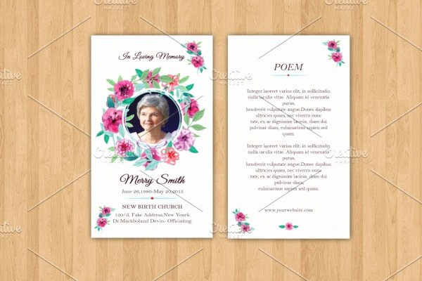 Funeral Prayer Card Template Free Awesome 17 Funeral Prayer Card Templates In Psd Word