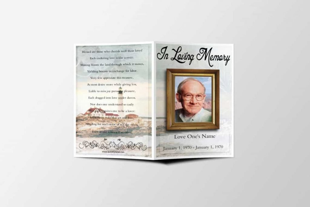 Funeral Prayer Card Template Free Awesome Blank Funeral Prayer Card Template