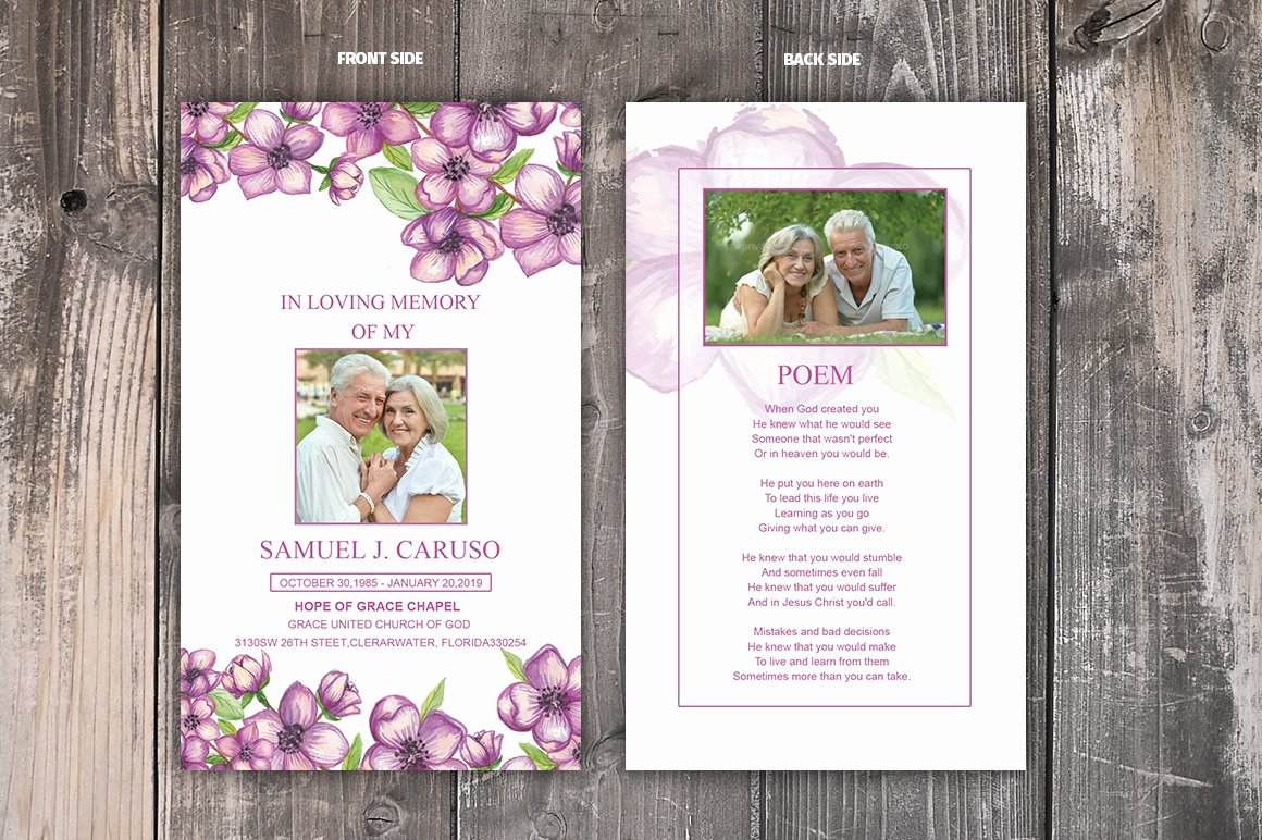 Funeral Prayer Card Template Free Awesome Funeral Prayer Card Template Card Templates Creative