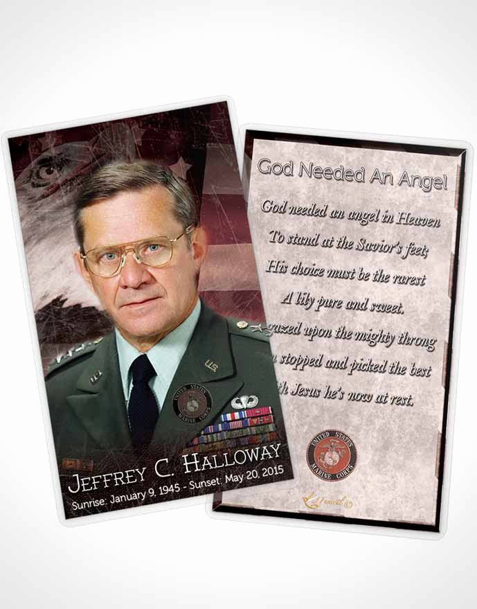 Funeral Prayer Card Template Free Best Of Obituary Template Trifold Brochure Sunset Marine Salute