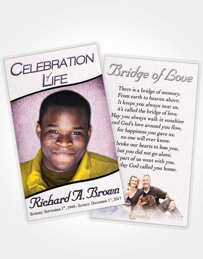 Funeral Prayer Card Template Free Fresh Obituary Template Trifold Brochure Ocean Bliss