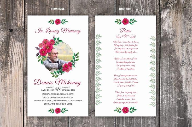 Funeral Prayer Card Template Free Inspirational Best 25 Funeral Prayers Ideas On Pinterest