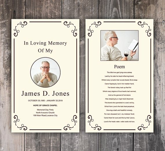Funeral Prayer Card Template Free Inspirational Funeral Prayer Card Template Editable Ms Word & Shop