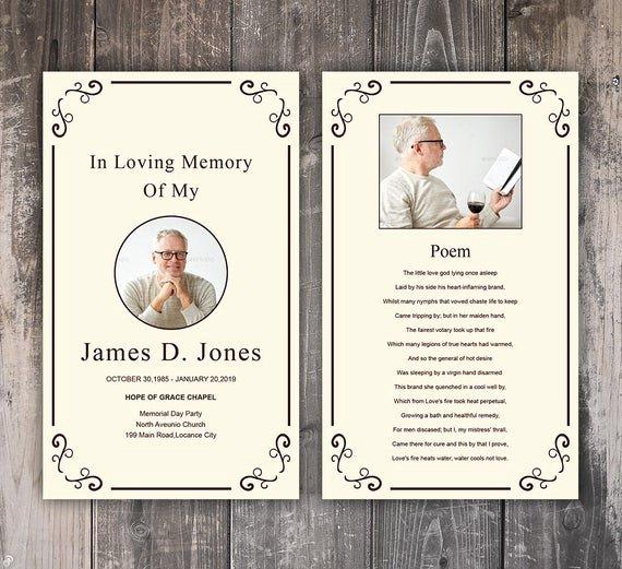 Funeral Prayer Card Template Free Inspirational Funeral Prayer Card Template Editable Ms Word & Shop