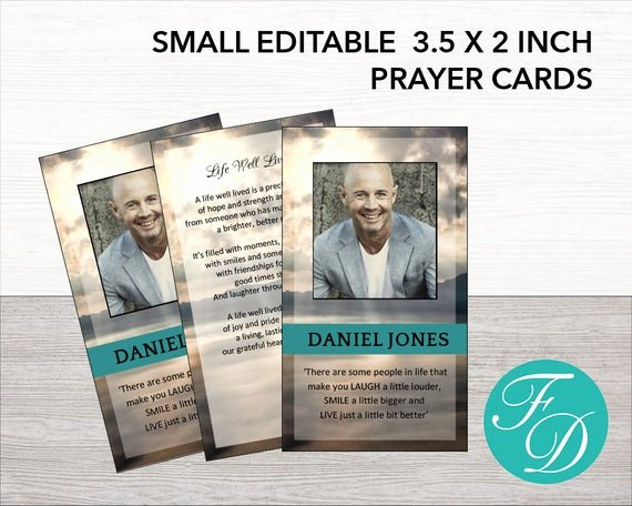 Funeral Prayer Card Template Free Inspirational Printable Prayer Card Memorial Ideas Funeral Ideas Funeral