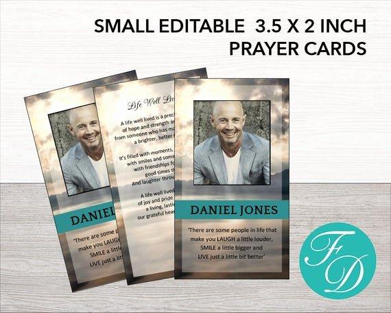 Funeral Prayer Card Template Free Inspirational Printable Prayer Card Memorial Ideas Funeral Ideas Funeral