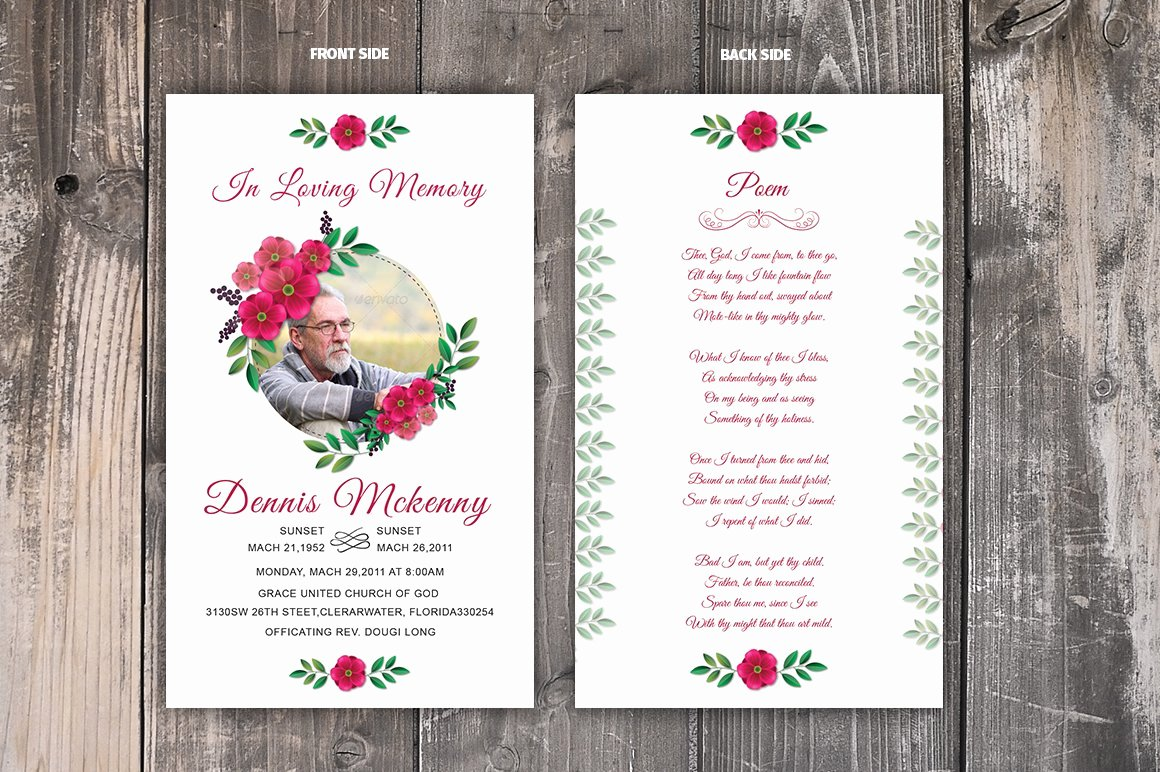 Funeral Prayer Card Template Free Lovely Funeral Prayer Card Template Card Templates Creative