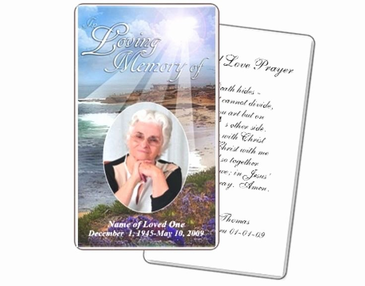 Funeral Prayer Card Template Free Luxury Best 25 Funeral Prayers Ideas On Pinterest