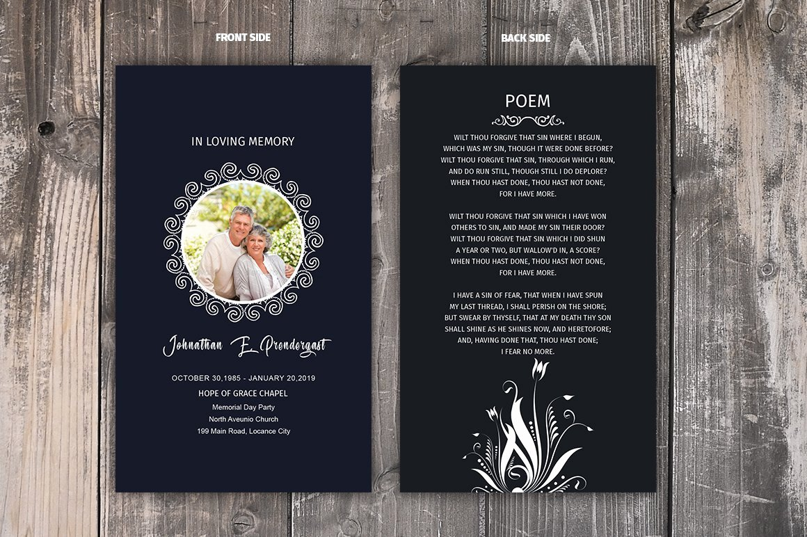 Funeral Prayer Card Template Free New Funeral Prayer Card Template Brochure Templates