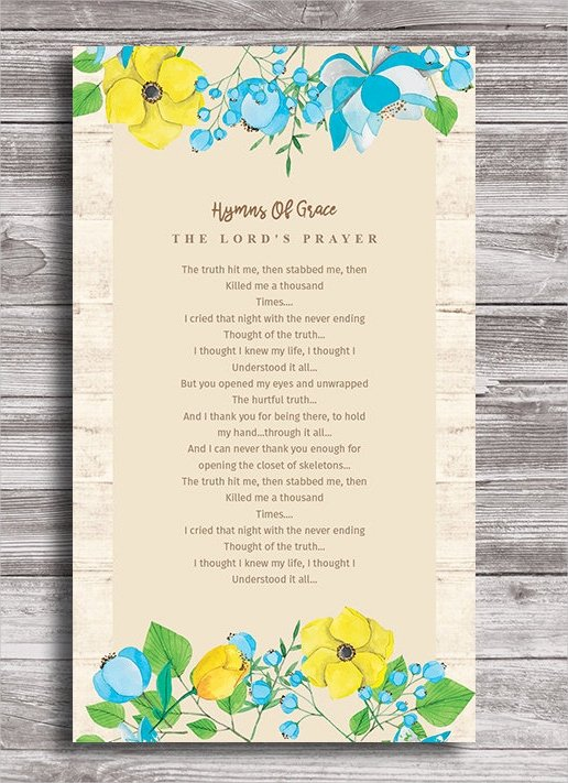 Funeral Prayer Card Template Free Unique 15 Funeral Card Templates Psd Ai Eps