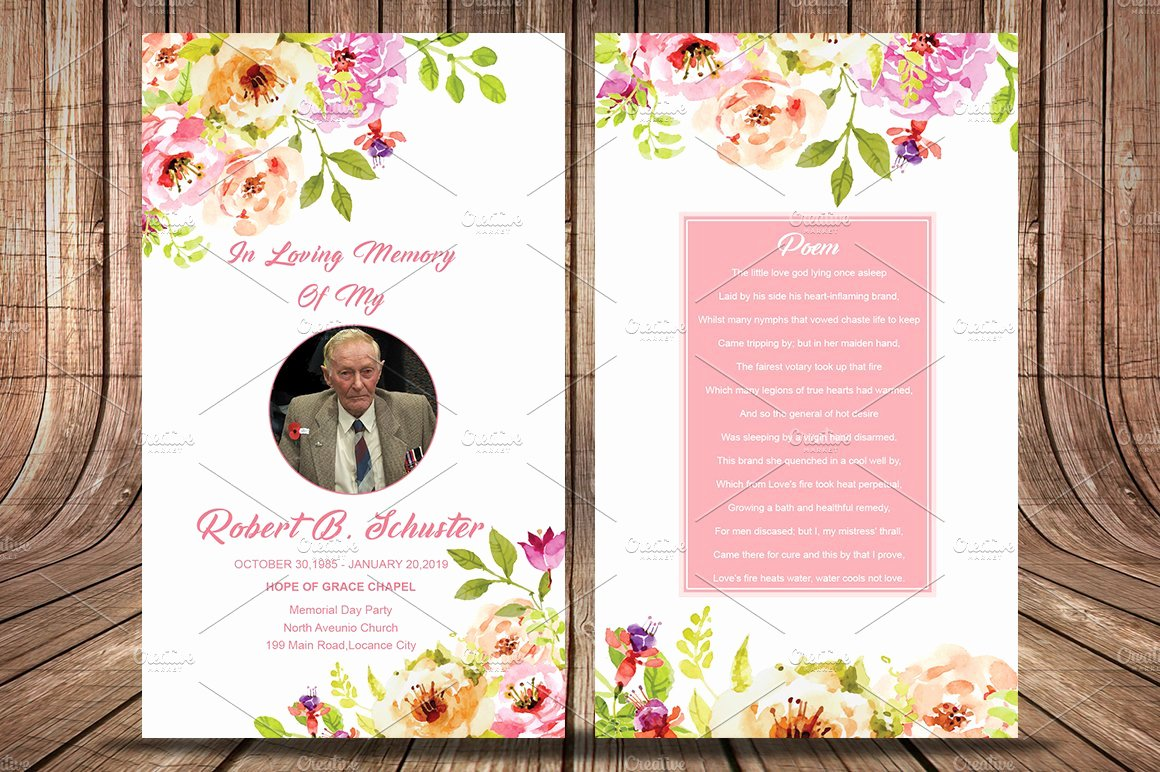 Funeral Prayer Card Template Free Unique Funeral Prayer Card Template Card Templates Creative