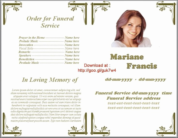 Funeral Program Template Microsoft Word Awesome Memorial Service Programs Template Microsoft Fice Word