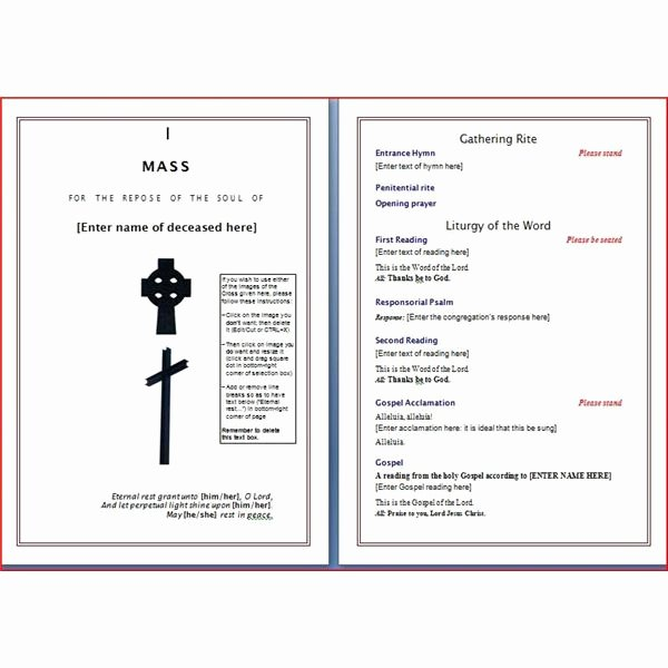 Funeral Program Template Microsoft Word Beautiful Six Resources to Find Free Funeral Program Templates to