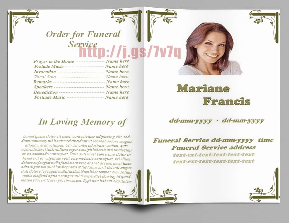 Funeral Program Template Microsoft Word Best Of White Design Funeral Memorial Programs