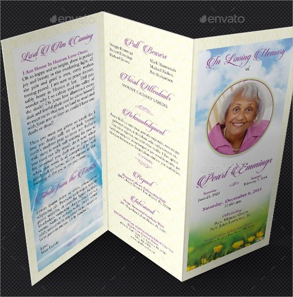 Funeral Program Template Microsoft Word Elegant 16 Funeral Memorial Program Templates Psd Ai Vector