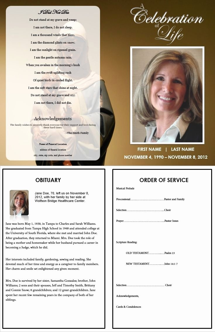 Funeral Program Template Microsoft Word Elegant Virgin Mary Funeral Program