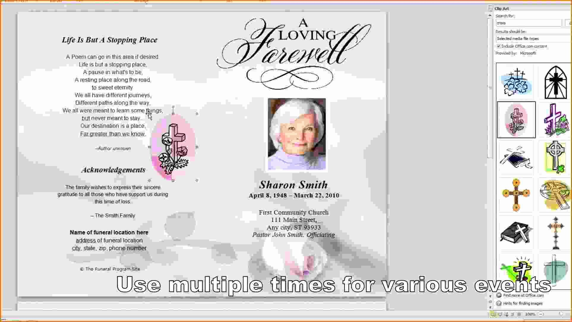 Funeral Program Template Microsoft Word Fresh 8 Free Funeral Program Template Microsoft Word