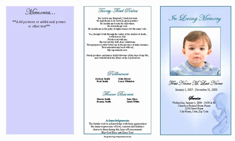Funeral Program Template Microsoft Word Fresh Funeral Program Template