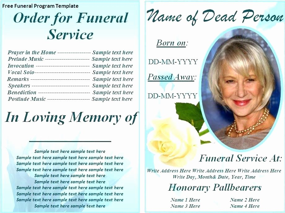Funeral Program Template Microsoft Word Inspirational Funeral Template Word Zoro9terrainsco