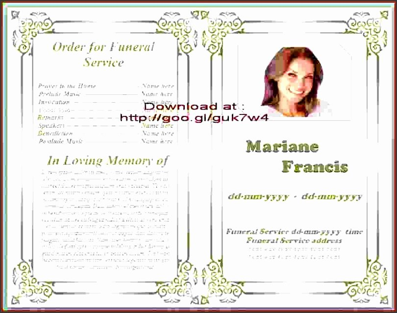 Funeral Program Template Microsoft Word Lovely 9 Download Free Funeral Program Template