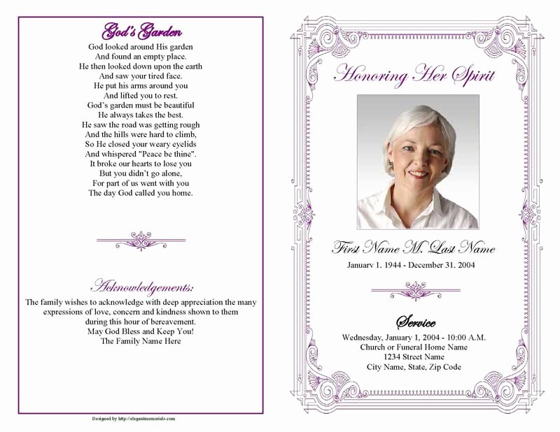Funeral Program Template Microsoft Word Lovely Funeral Program Templates