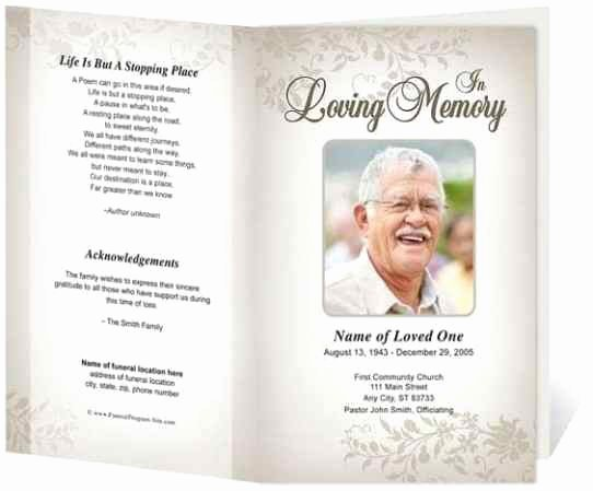 Funeral Program Template Microsoft Word Unique 21 Free Free Funeral Program Template Word Excel formats