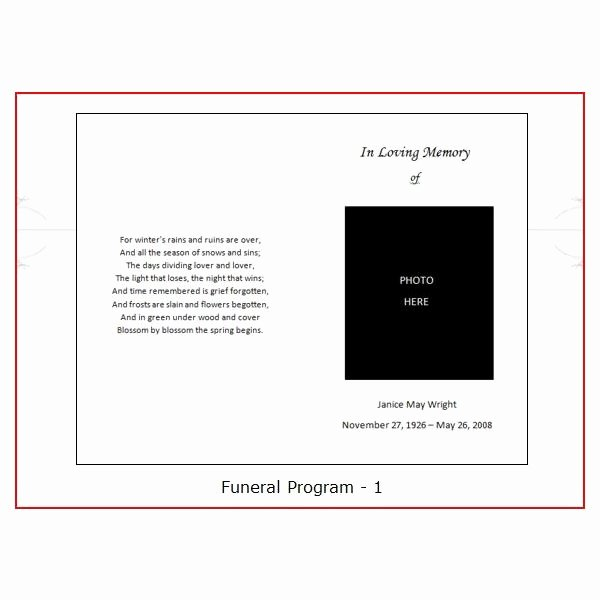 Funeral Program Templates Free Awesome Six Resources to Find Free Funeral Program Templates to