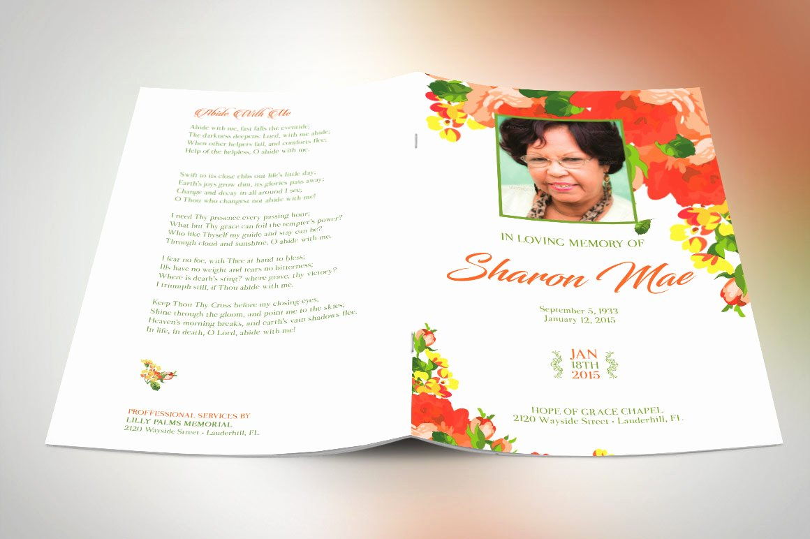 Funeral Program Templates Free Best Of 59 Beautiful Obituary Templates Shop Plus Publisher