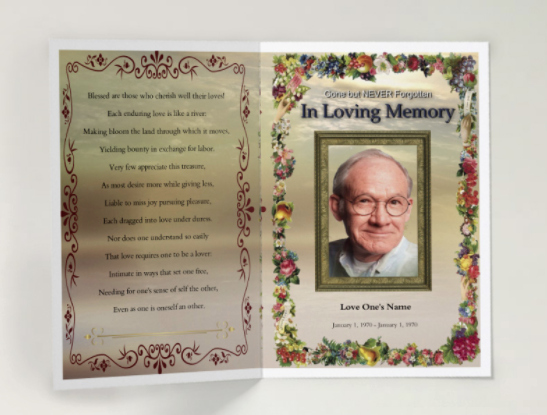 Funeral Program Templates Free Elegant 75 Free Funeral Program Template