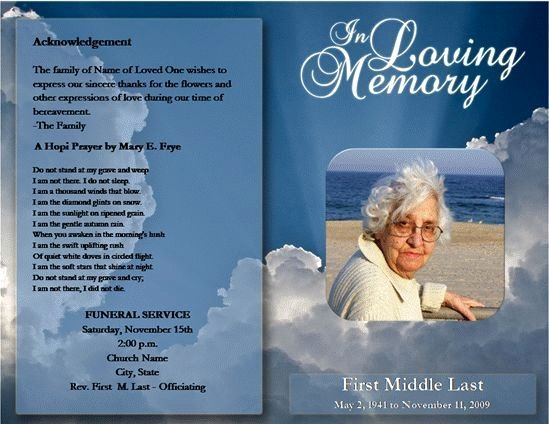 Funeral Program Templates Free Elegant Free Funeral Program Template Microsoft Word